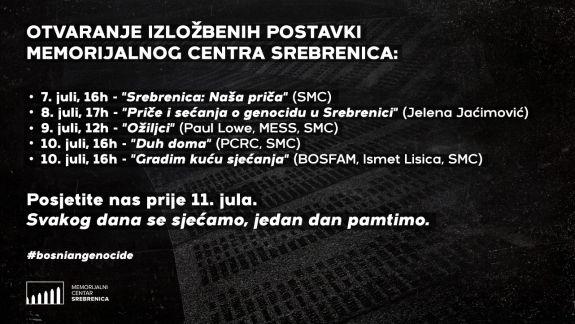 Memorijalni centar Srebrenica u julu otvara pet izložbenih postavki