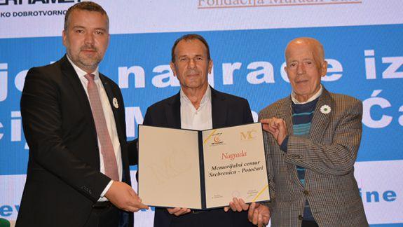 """Memorijalni centar dobitnik je nagrade koju MDD """"Merhamet"""" dodjeljuje iz Fondacije """"Muradif Ćato"""""""