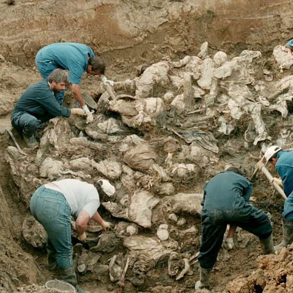 <p>In July of 1995, the VRS began transporting the bodies of Srebrenica's victims to primary gravesites in close proximity to the places where the victims had been executed, in order to hide the evidence of their crimes. The public discovery of these graves prompted an even more elaborate and sophisticated cover-up operation between August and November of that year, the likes of which have not be observed anywhere in the world.</p> <p>During this period, the VRS employed civilian manpower and resources to exhume the remains of Srebrenica's victims from the primary graves and transport them to be reinterred at a number of secondary gravesites. In some instances, Bosnian Serbs exhumed these bodies a second time, and redistributed their remains among a network of tetriary gravesites even further removed from the places of execution.</p> <p>This cover-up operation was initially undertaken in secret by engineering units of the Zvornik and Bratunac Brigades, operating under the direction of the Main Staff of the VRS. When the military infrasturcutre proved insufficient, VRS leaders recruited civilian manpower and resources for their criminal enterprise, including private sanitation companies from Zvornik and Bratunac. This operation was notable to only for its level of organization, but also for its sheer expansiveness. The exhumation, transportation, and reburial of bodies on such a massive scale required the work, resources and complicity of hundreds if not thousands of individuals.</p> <p>The elaborateness of this undertaking greatly complicated the work of investigators later involved in the prosecution of the crimes committed in Srebrenica and the identification of victims. Nevertheless, years of painstaking effort on the part of international investigative bodies has allowed us not only to reconstruct the atrocities which unfolded in Srebrenica, but also to identify the remains of thousands of individuals.</p> <p>To date, 94 mass gravesites have been exhumed in and 